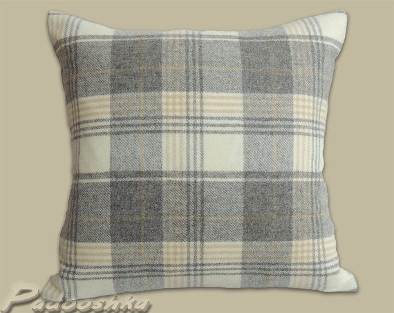 18 Quot Kincraig Natural Luxurious Soft Grey Tweed Cushion