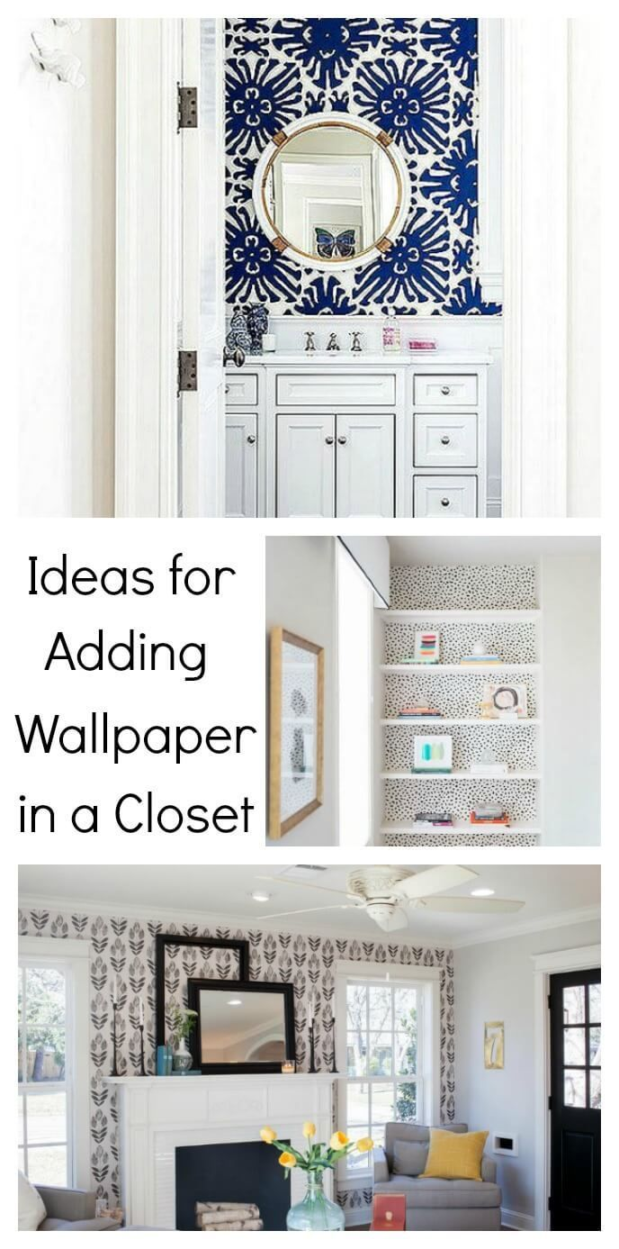 Add A Pretty Pop Of Color Or Pattern In An Unexpected Small Space In Your Home Like These Closet Wallpaper Ideas