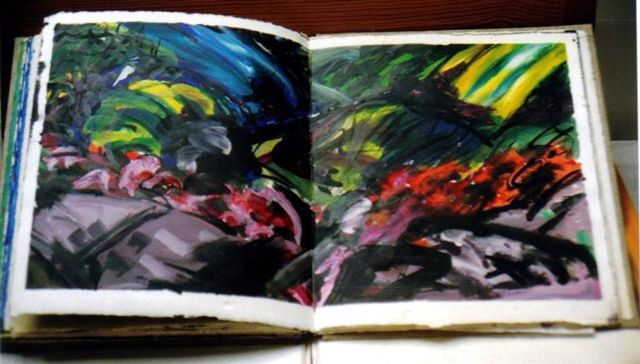 """"""" Snow """" A book made from the Poem by Louis Mc Neice .... For the Exhibition """" Bridges and Crossroads """""""