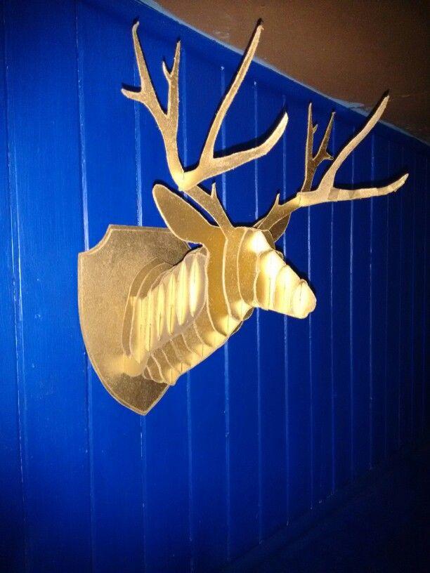 Cabeza de venado en carton. Cabeza de Ciervo. #Deer #Paperboard