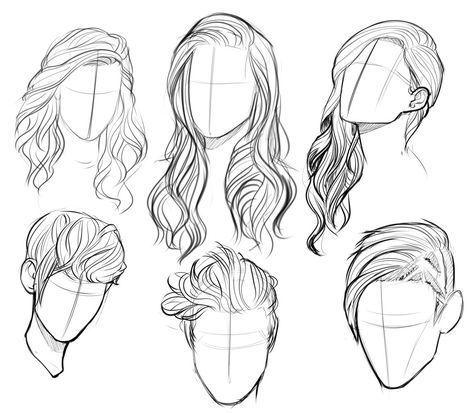 Frisuren Skizzen