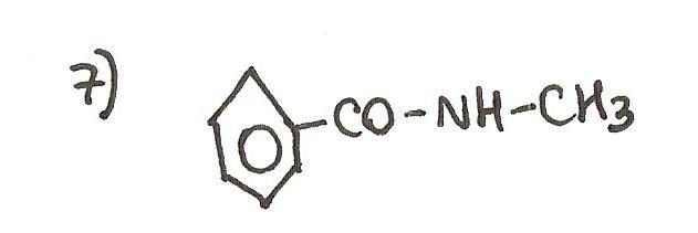 Ejercicio 7 de formulación orgánica. Nombra la siguiente amida.