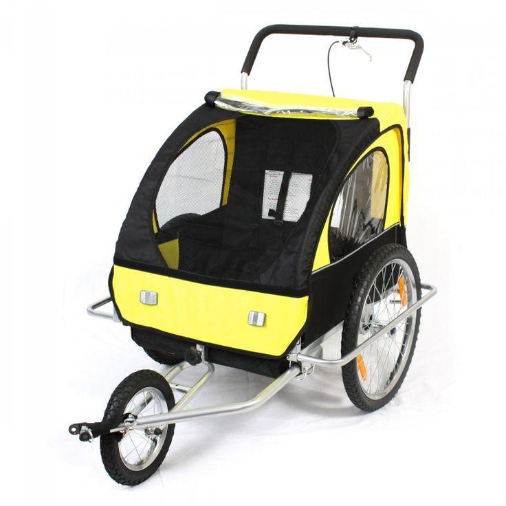Fietskarren fiets buggy geel zwart 199,00 euro