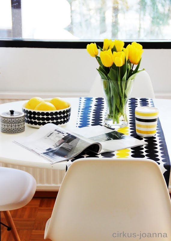 black, white & yellow <3