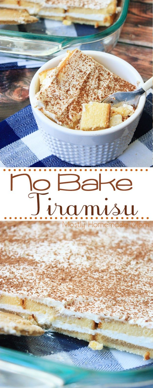 No Bake Tiramisu - Simple frozen pound cake, cream cheese, whipped cream, and brewed coffee make this dessert the best tiramisu recipe ever! #ad