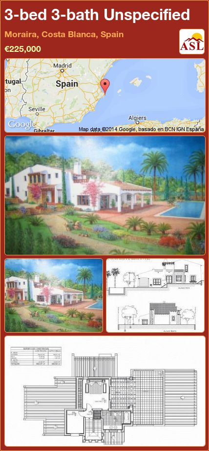 3-bed 3-bath Unspecified in Moraira, Costa Blanca, Spain ►€225,000 #PropertyForSaleInSpain