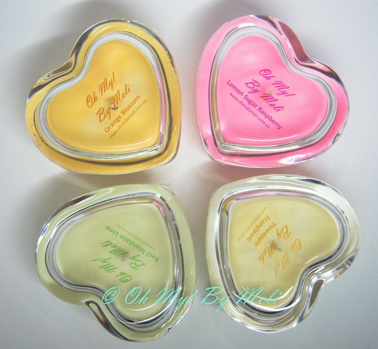 www.ohmybymeli.com.au Hand poured natural soy wax in lovely heart shaped glass jars. Not only are they beautiful to look at while lit, they smell so delicate, beautiful and natural, not overpowering and harsh. Once the candle has been used up, wash with warm water to recycle or use as a trinket box! Great gift for Valentines!