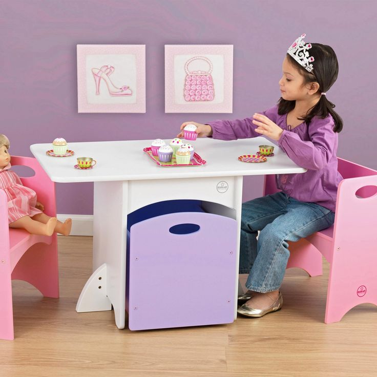 Have to have it. KidKraft Pastel Table and Bench Set - $124.99 @hayneedle