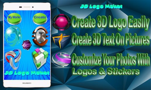 3d logo maker app to creating 3D logos for any categories there is also 3d text maker on photo to create 3d text and 3d animated text with best fonts and design for your pictures or selfies to share with your friends in social networks. 3d logo maker , logo maker , logo builder , 3d logo designer , android app 2018 3d logo design 3d logo generator , logo creator , mobile app logo logotype builder logo maker 2018 new best logo maker android mobile app new 2018