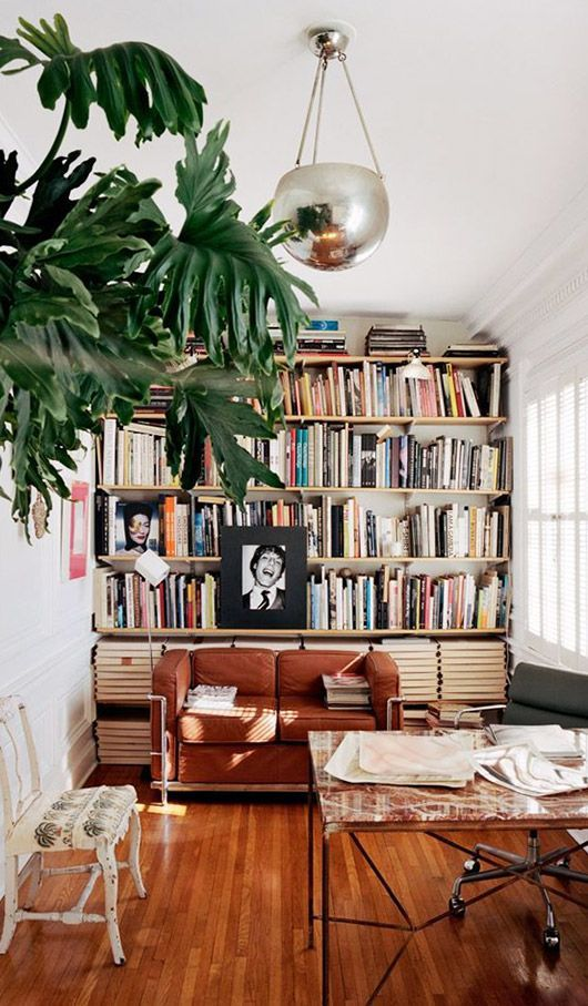 eclectic decor in modern living room. / sfgirlbybay
