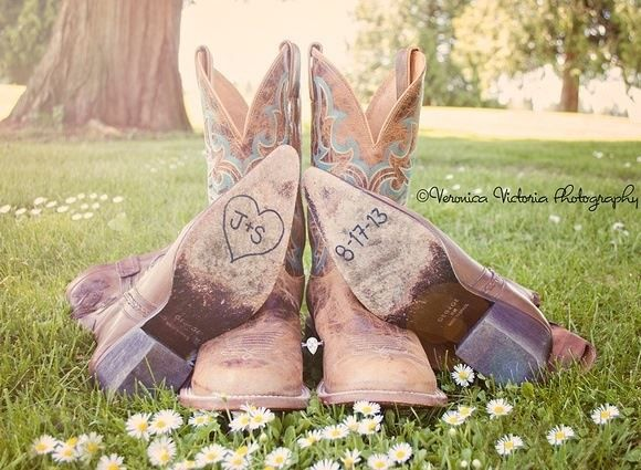 His and hers cowboy boots