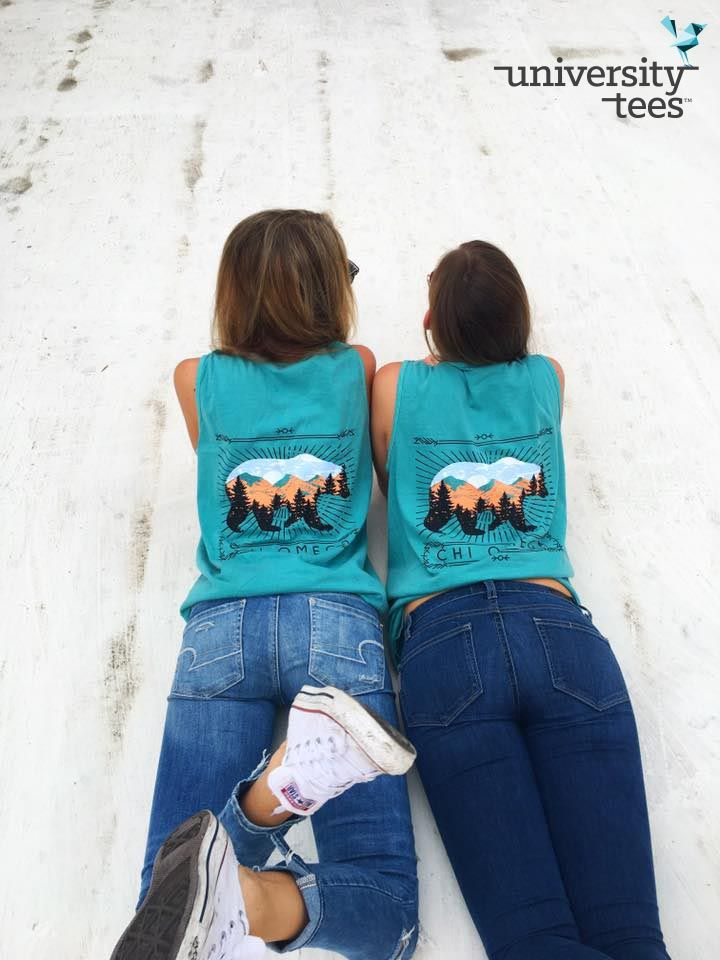 sit back and relax | Chi Omega | Made by University Tees | universitytees.com