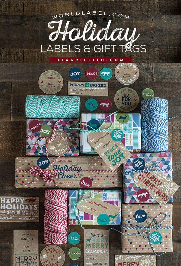 Printable Kraft Christmas Labels