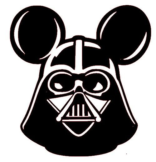 Darth Vader Mickey Mouse Ears Disneyland Star Wars Walt Disney World White Vinyl Decal on Etsy, $6.00