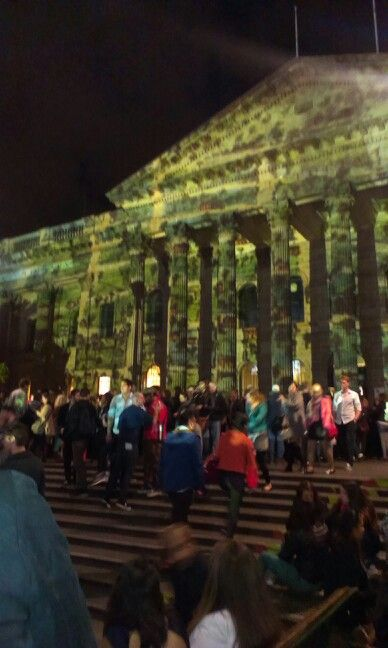The State Library film screenings, light installation