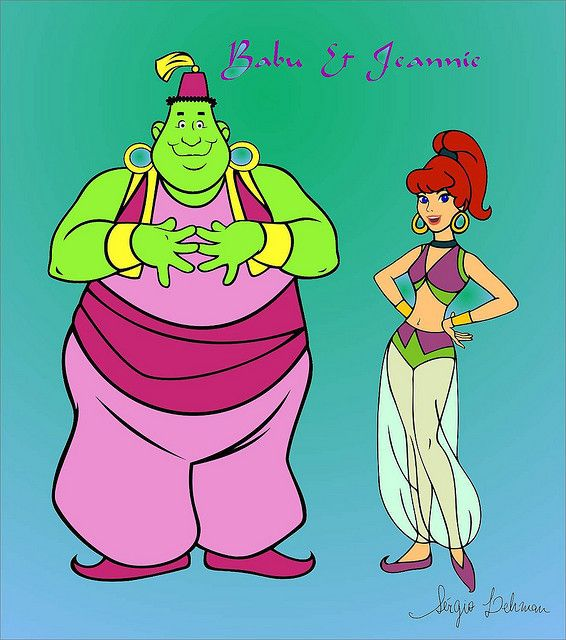 """I Dream of Jeannie cartoon from the early 70's... """"Yabble, Dabble!"""""""