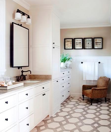 patterned tile floor.