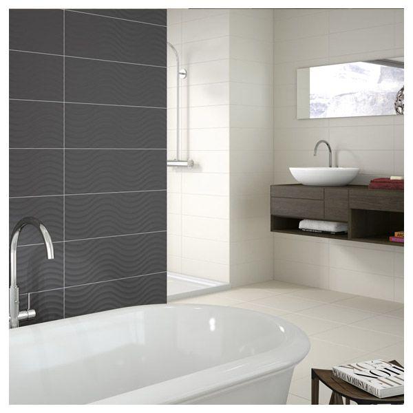 Le carrelage Home va transformer votre salle de bain, avec son coté design. Il apporte clarté et charme à votre salle de bain. Ici le Carrelage salle de bain Home de la couleur Graphite