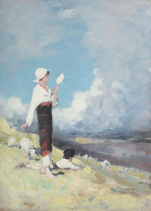 Shepherdess, Nicolae Grigorescu
