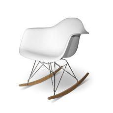 1950'ler Charles & Ray Eames tasarımı sallanan sandalye