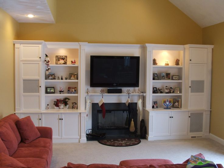Built in Entertainment Centers, fireplace | Custom Painted Entertainment Center by Stephen Cabitt Company ...