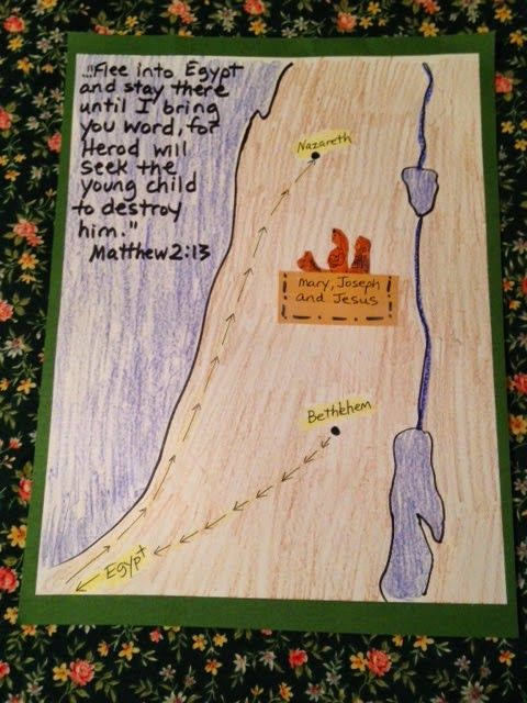 Matthew 2. Flight to Egypt. Joseph, Mary, and Jesus flee to Egypt to escape Herod's wrath tonight on the blog. Easy, inexpensive, and unique children's Bible lessons. Free to all! Take a look and share!