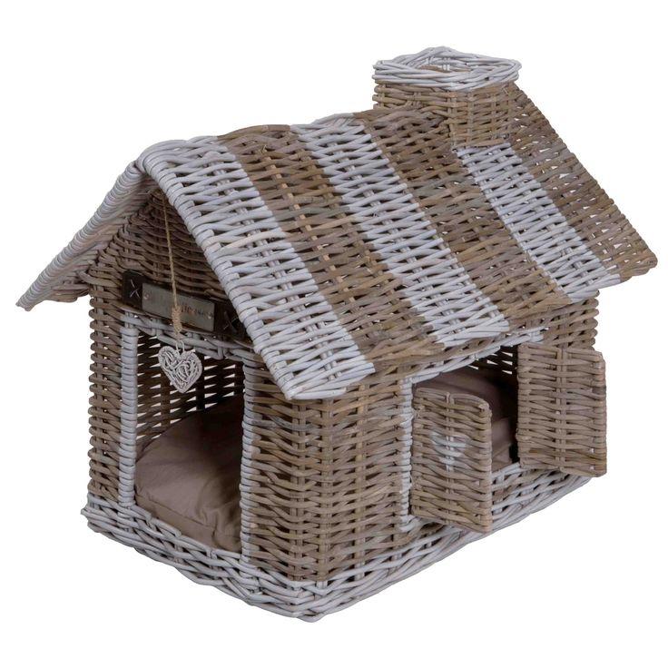Happy-House rieten villa voor #hond of #kat. Riant wonen voor uw #huisdier! Luxe #villa met openslaande ramen voor vrij uitzicht. Een eigen woning voor uw viervoeter.