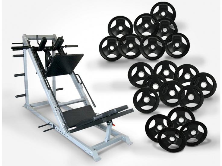 Force USA Leg Press/Hack Squat & 200kg Olympic Weights  This package includes the following items:  - Force USA Leg Press / Hack Squat Combo - 8 x 15kg Rubber Coated Olympic Weight Plates - 4 x 10kg Rubber Coated Olympic Weight Plates - 8 x 5kg Rubber Coated Olympic Weight Plates   For more info visit: http://www.gymandfitness.com.au/force-usa-leg-press-hack-squat-200kg-olympic-weights-pack-2.html