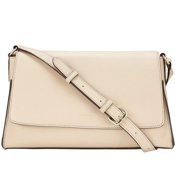 DKNY Chelsea Vintage Leather Across Body Bag, Sand (£208) ❤ liked on Polyvore featuring bags, handbags, shoulder bags, bolso, dkny crossbody, pink cross body purse, vintage leather purse, crossbody purse and pink crossbody purse