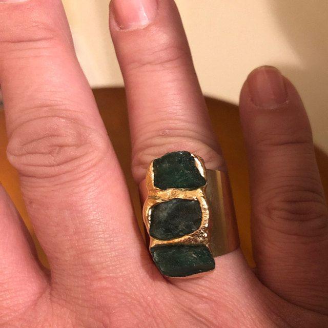 Tourmaline Ring Raw Tourmaline Ring Black Tourmaline Ring Natural Stone Ring Raw Crystal Ring Black Gemstone Ring Gold Adjustable Ring In 2020 Black Tourmaline Ring Raw Gemstone Ring Raw Opal Ring
