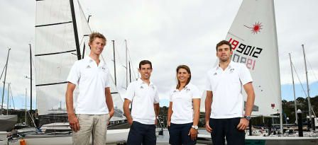<h5>Australian Olympic Sailing Team Selection Announcement</h5> <p>SYDNEY, AUSTRALIA - DECEMBER 04: (L-R) Will Ryan, Mathew Belcher, Lisa Darmanin and Jason Waterhouse pose during a selection announcement for the Australian Olympic Games sailing team for Rio 2016, at Middle Harbour Yacht Club on December 4, 2015 in Sydney, Australia.</p> © 2015 Getty Images