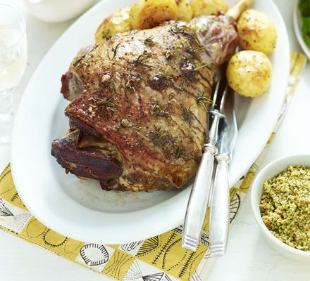 only the vegetables and the lamb, don't put bay leaves. and serve with http://www.foodnetwork.com/recipes/rachael-ray/wilted-spinach-with-garlic-and-oil-recipe.html