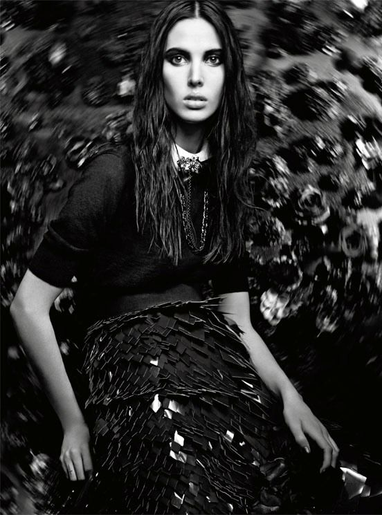 Vogue Italia, September '11. ' Chic Gothic Glam' ft. Ruby Aldridge and Arizona Muse, photography by: Craig McDean.