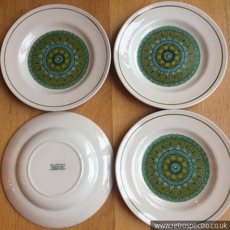 New Mexico pattern English Ironstone side plates | Finding My Style