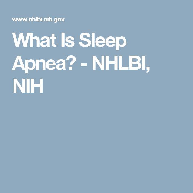 What Is Sleep Apnea? - NHLBI, NIH