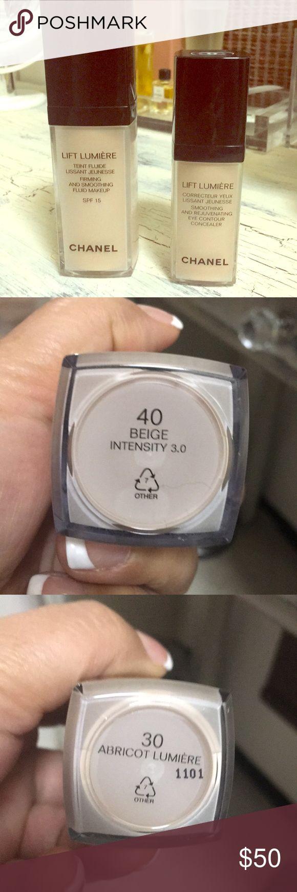 Chanel foundation & concealer duo Foundation #40 beige concealer #30 85% left on bottle. Makeup Foundation