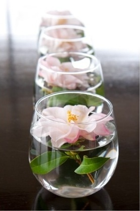 flowers... What a simple and beautiful wedding table centerpiece, or any table centerpiece.