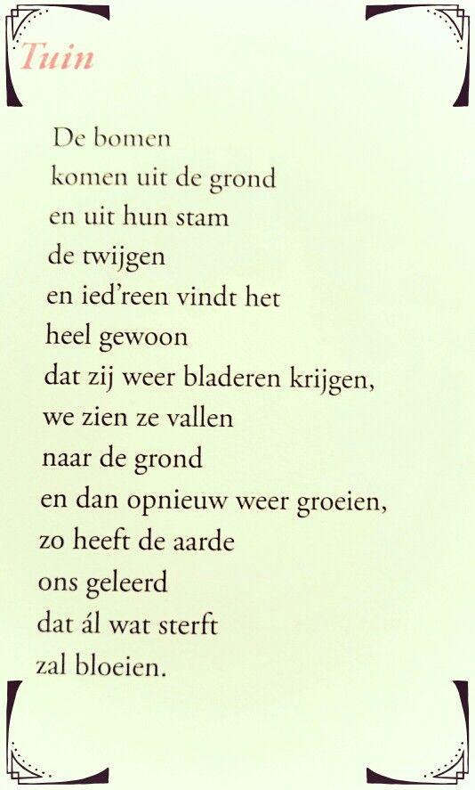 Genoeg Gedicht 'Tuin' - Toon Hermans | Toon Hermans - Poetry quotes &QK75