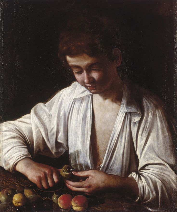 The Art of Italy in the Royal Collection - The Baroque: Boy Peeling Fruit, ca. 1592-93
