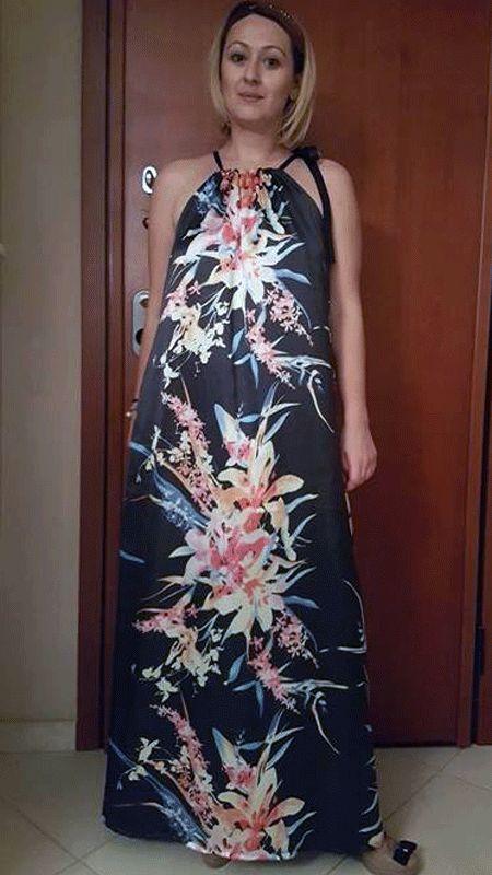 Μακρύ φόρεα με τιράντες.Σεμινάριο Κοπτικής-Ραπτικής Α΄Κύκλος.