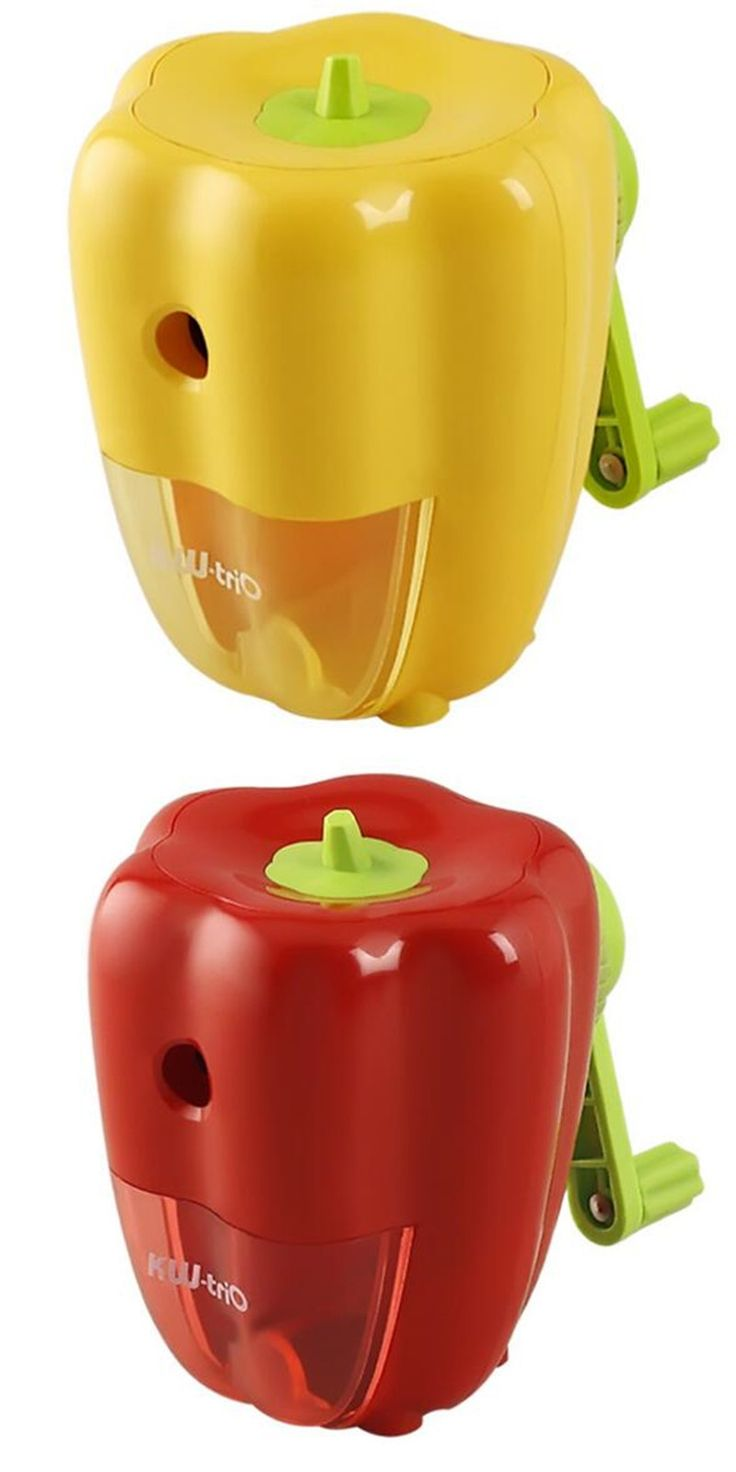 Mechanical Pencil Sharpener Peper Image Red Yellow Colors Stationery kids pencil Sharpener Sharpening Machine Kawaii Gifts