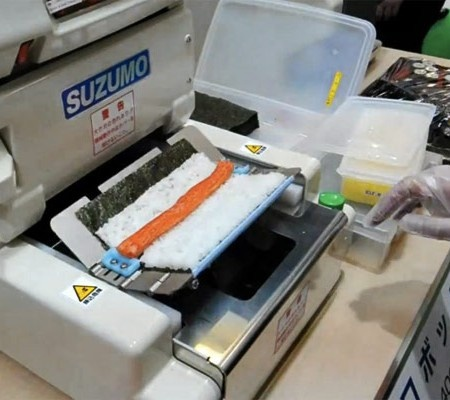 New Sushi Machine Threatens to Disrupt the Industry http://dailyfoodtoeat.com/2012/04/09/new-sushi-robot-is-a-game-changer/