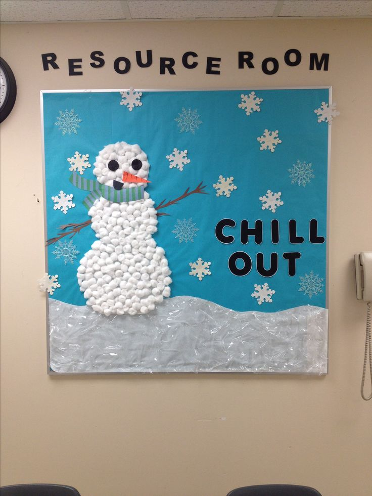 Chill Out winter bulletin board...cute!