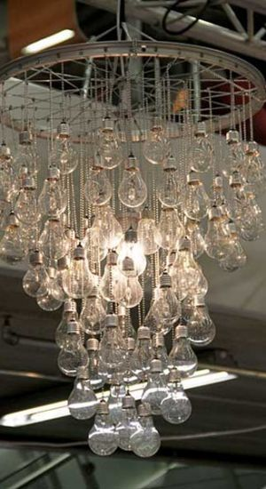 DIY Decorating with old lamp bulbs