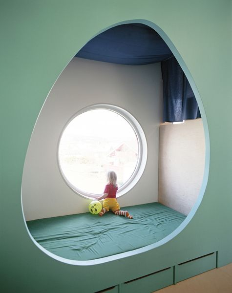 Love it! built-in kids bunk with a view