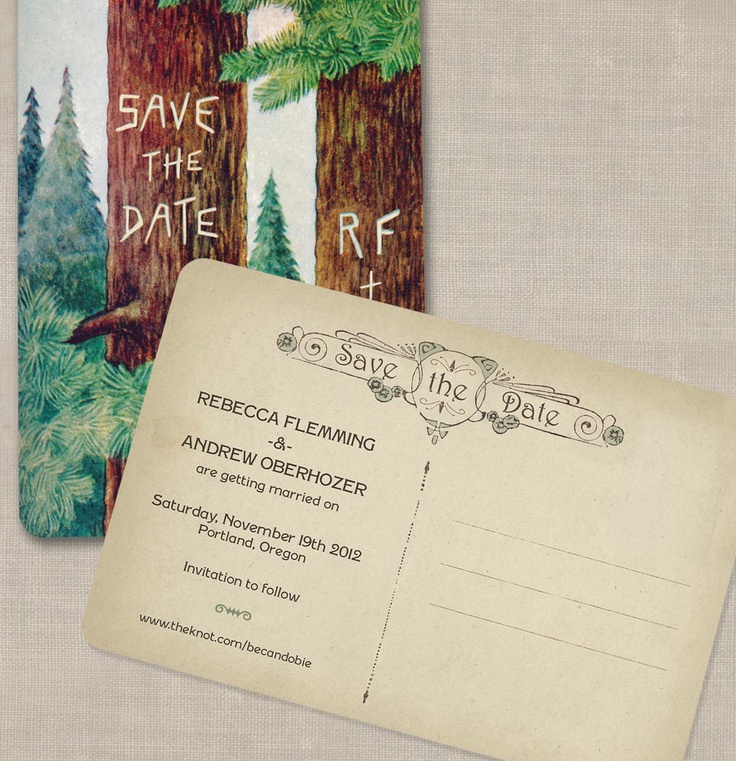 cheap0th wedding anniversary invitations%0A Rustic Tree Save the Dates Vintage Woodland Forest Theme  Set of                Vintage Wedding InvitationsWedding StationaryVintage