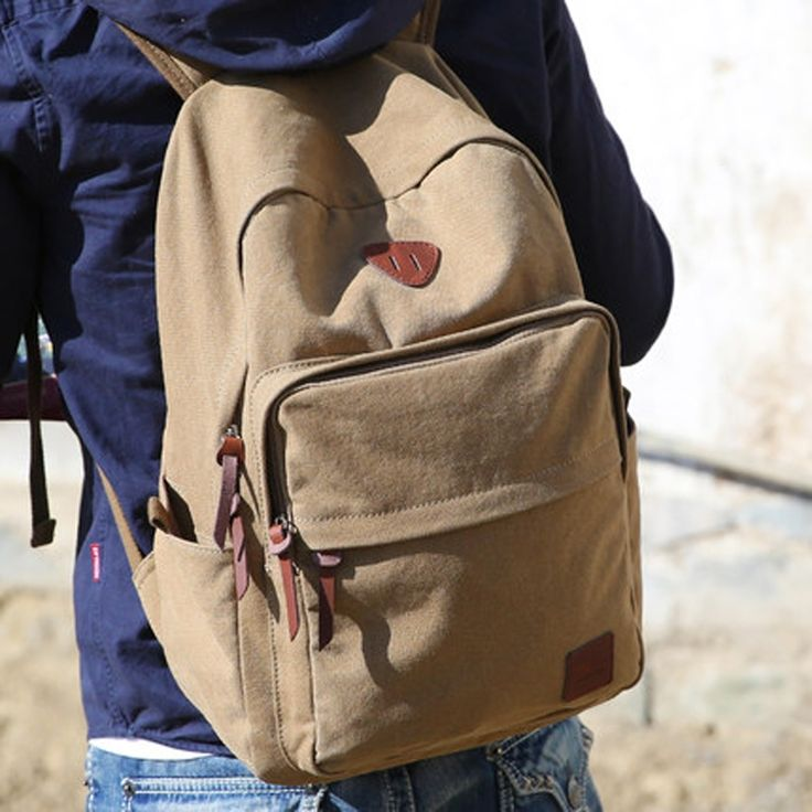27.45$  Watch now - http://alicrc.shopchina.info/go.php?t=32513657388 - Muzee Hot Sale 2016 New Fashion Arcuate Leisure Men's Backpack Zipper Solid Canvas Backpack School Bag Travel Bag ME_0528  #magazineonlinewebsite