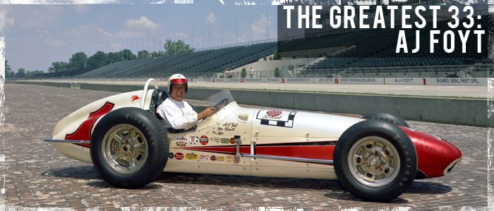 "Anthony Joseph ""A. J."" Foyt, Jr. (born January 16, 1935) is a retired American automobile racing driver. He raced in numerous genres of motorsports. His open wheel racing includes USAC Champ cars and midget cars. He raced stock cars in NASCAR and USAC. He won several major sports car racing events. He holds the all-time USAC career wins record with 159 victories and the all-time American championship racing career wins record with 67"
