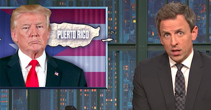 Seth Meyers Rips Donald Trump's 'Sh**ty' Handling Of Crisis In Puerto Rico