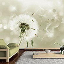 Vlies Fototapete 400x280 cm - 3 Farben zur Auswahl - Top - Tapete - Wandbilder XXL - Wandbild - Bild - Fototapeten - Tapeten - Wandtapete - Pusteblume Blumen Natur b-C-0072-a-d